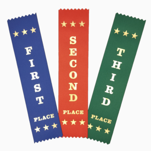 first second third ribbons