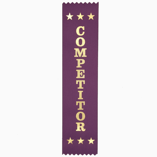 Competitor award ribbons