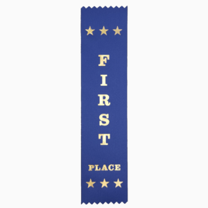 First Place award ribbons