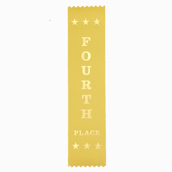 Fourth place award ribbons