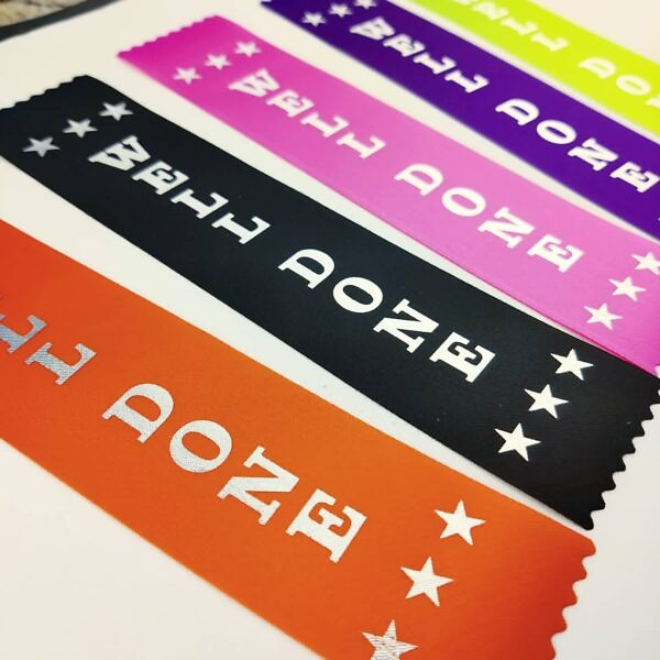 Well done ribbons, mixed colours