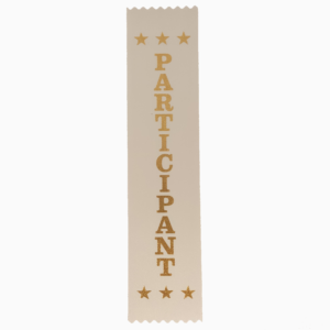Participant award ribbons