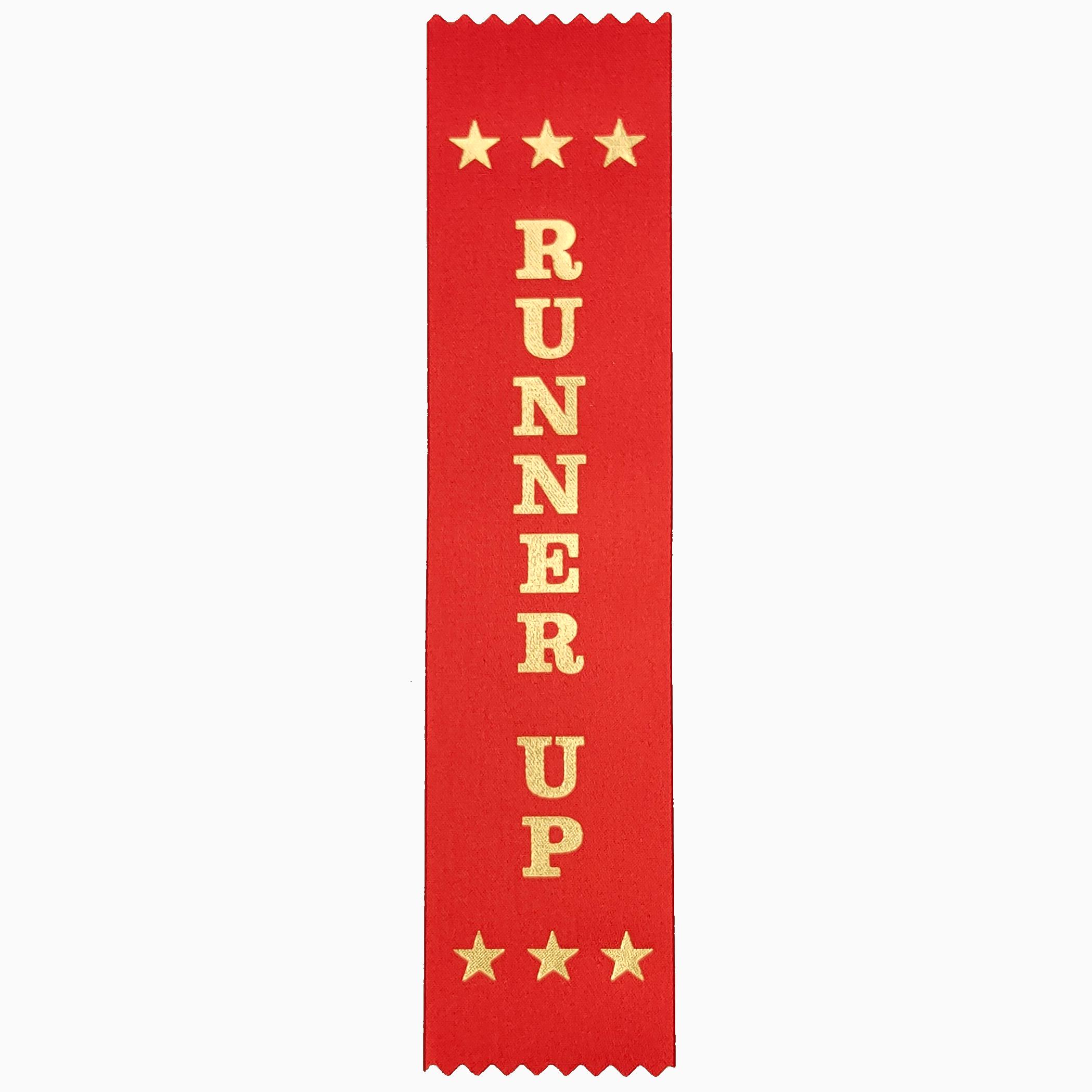 Runner Up award ribbons