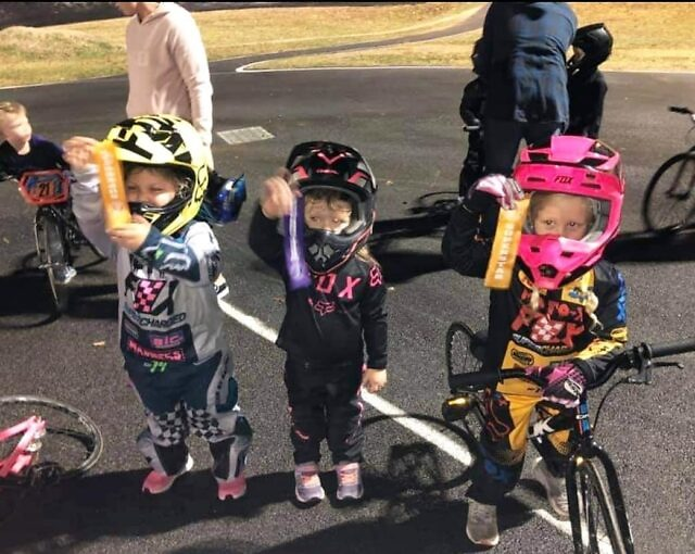 Look at these tiny champions from @beenleighbmxclub 🌟 Well done!  We're so glad you loved our ribbons, we loved making them for you!  👏🚴🏁 . #sportsawards #raceribbons #logoribbons #screenprinting #sportawardsbrisbane #trophyshopbrisbane #trophyroom #achievement #bmxracing #bmxbrisbane